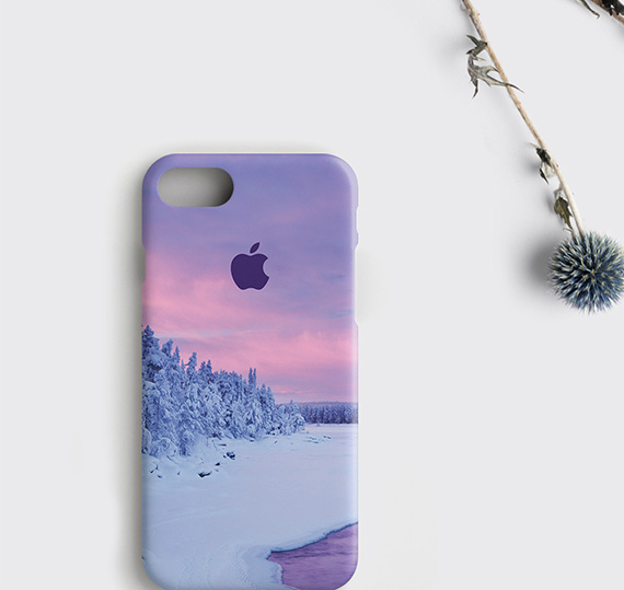 the latest 0e906 525d8 Purple iPhone X Case, Winter iPhone 8 Cover Gift for Daughter - zoobizu.com