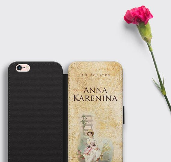 Anna Karenina iPhone 8 Case Leo Tolstoy Samsung S8 Plus Wallet Cover