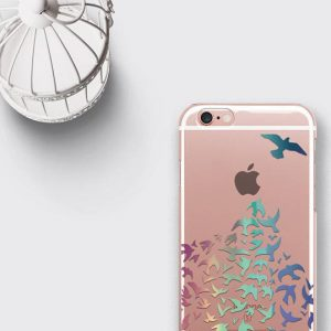 Birds Phone Case Clear Samsung Galaxy S7 Edge Case
