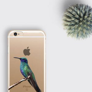 Blue Hummingbird Phone Case Clear Bird iPhone 8 Case