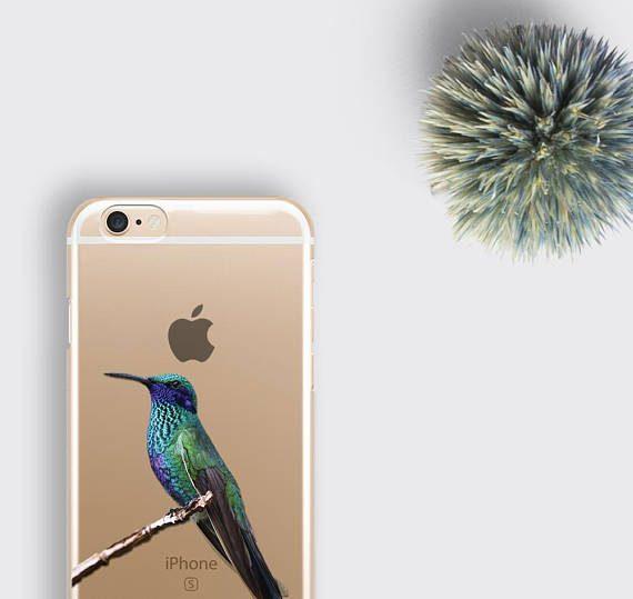 Blue Hummingbird Phone Case Clear Bird iPhone 8 Case