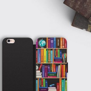 Bookshelf iPhone 8 Plus Wallet Case Literary Gift Samsung Wallet Case