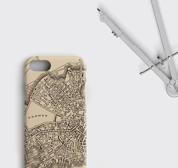 Boston Map Printed Phone Case Vintage map iPhone 7 Case