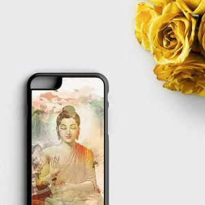 Buddha Phone Case Yoga Meditating Buddha Figurine