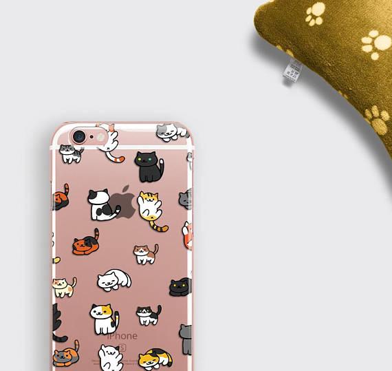 Cats iPhone 7 Case Clear Transparent iPhone 6 Case - zoobizu com