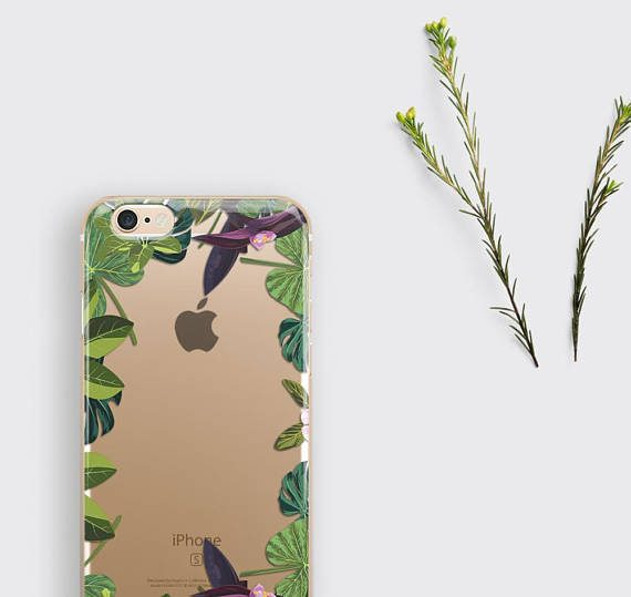 Clear iPhone 7 Case Floral iPhone 7 Plus Case