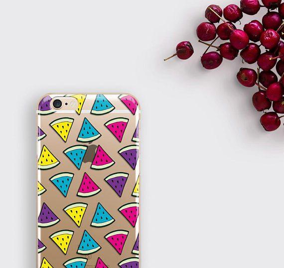 Clear iPhone 7 Plus Case Watermelon Samsung Galaxy S8 Case