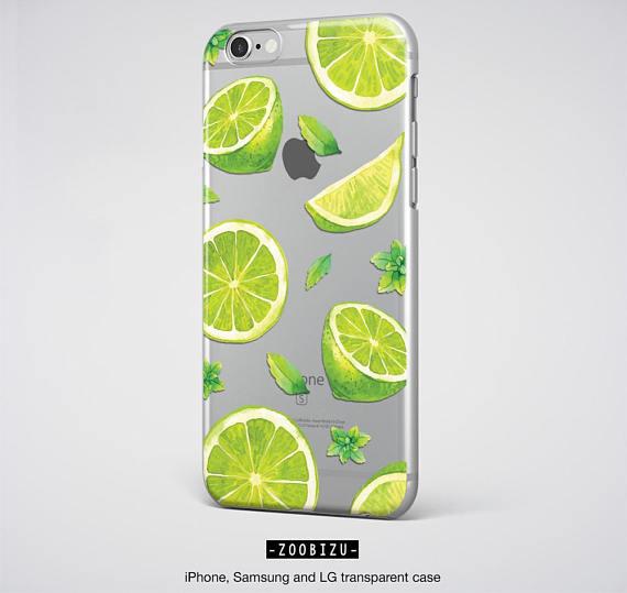 on sale 4762a 8b3ac Cute iPhone 7 Case Clear iPhone 6 Case Lime Green iPhone 6S Plus Case -  zoobizu.com
