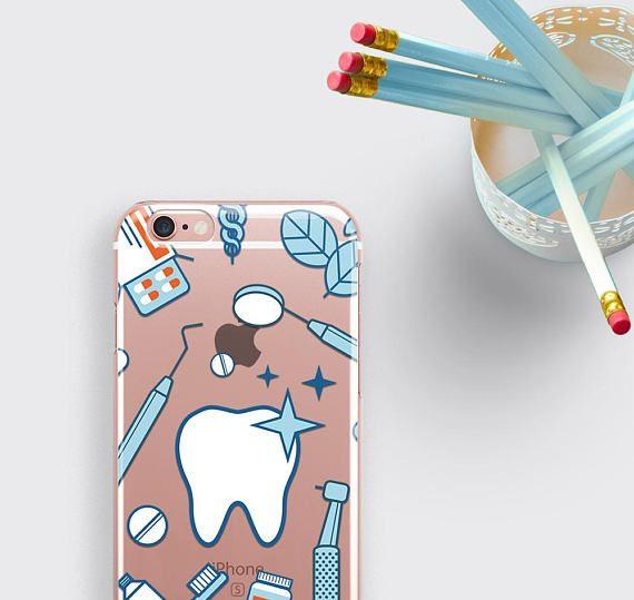 Dentist Phone Case Teeth iPhone 7 Case Dentist Gift Samsung S8 Case
