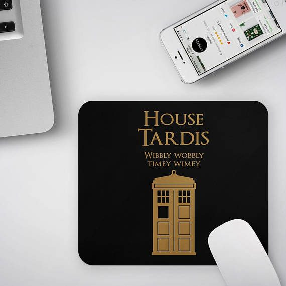 Doctor Who Mouse Pad, Game of Thrones Mousepad, Tardis Office Decor