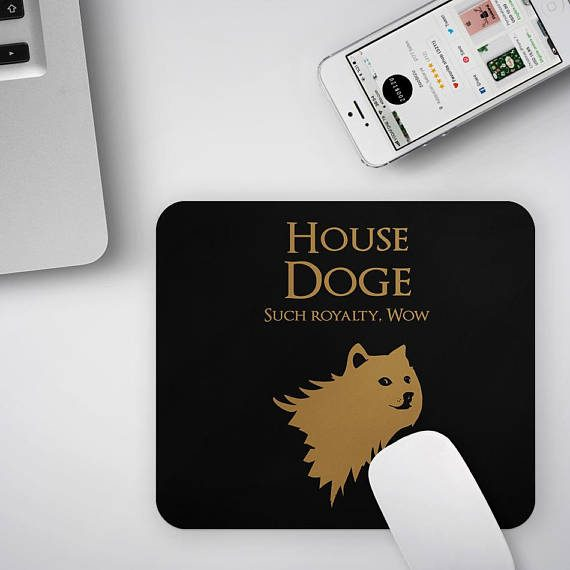 Doge MousePad Game of Thrones Mouse pad Funny Doge Meme Lover Gift