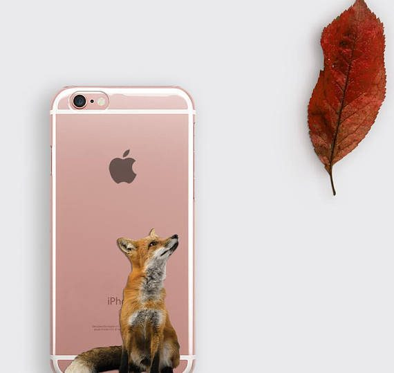 Fox iPhone 7 Case Transparent iPhone 6S Plus Case Animal Lover Gift Phone Case