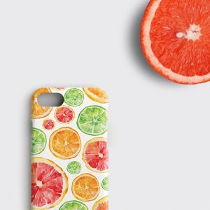 Grapefruit iPhone X Case, Bergamot iPhone 7 Plus Case