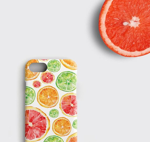 Grapefruit iPhone X Case, Bergamot iPhone 7 Plus Case