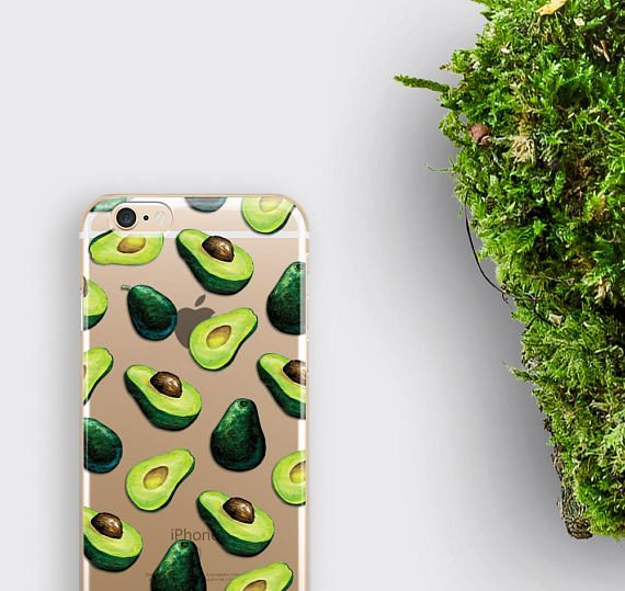 Green Avocado Phone Case iPhone 7 Case Guacamole iPhone 6S Plus Case
