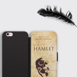 Hamlet Skull iPhone Wallet Case Shakespeare Gifts Samsung S8 Leather Case