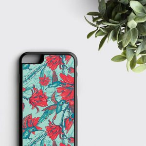 Hummingbird Phone Case iPhone 6 Case Floral Samsung Galaxy S7 Edge Case