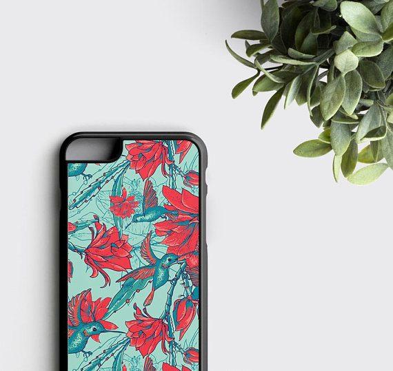 Hummingbird Phone Case iPhone 6 Case Floral Samsung Galaxy S7 Edge Case
