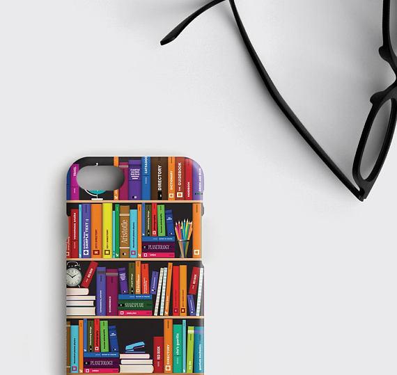 Literary Gifts IPhone 7 Case Bookshelf Samsung Galaxy S7 Edge