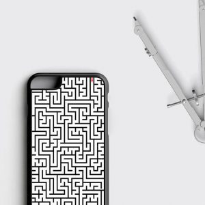 Maze Game iPhone Case, Labyrinth iPhone 8 Plus Cover