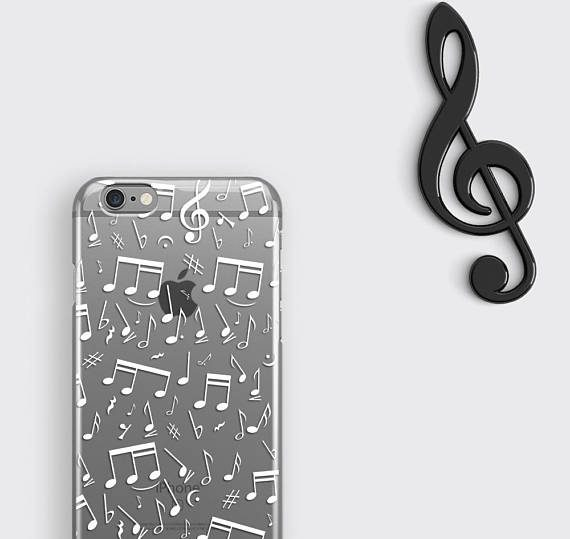 Music Samsung Galaxy S8 Plus Case Music Notes iPhone 6 Cover Treble Clef iPhone 7 Case