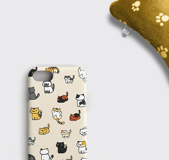 Neko Atsume iPhone 8 Plus Case Cute Neko Atsume Cats iPhone 6S Case