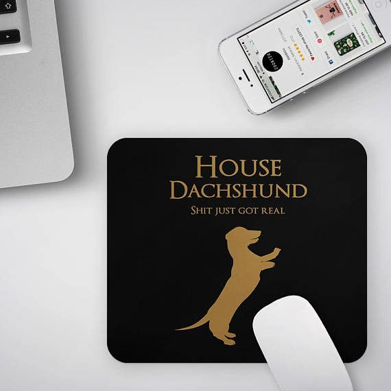 New Job Gift Mouse Pad Dachshund Mousepad Sausage Dog Lover Gift Mouse Mat