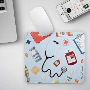 Personalized Gift for Doctor Custom Name Doctor Mousepad