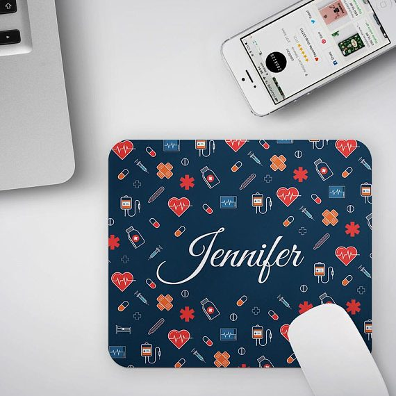 Personalized Nurse Gift MousePad Student Nurse Gift Mouse Pad