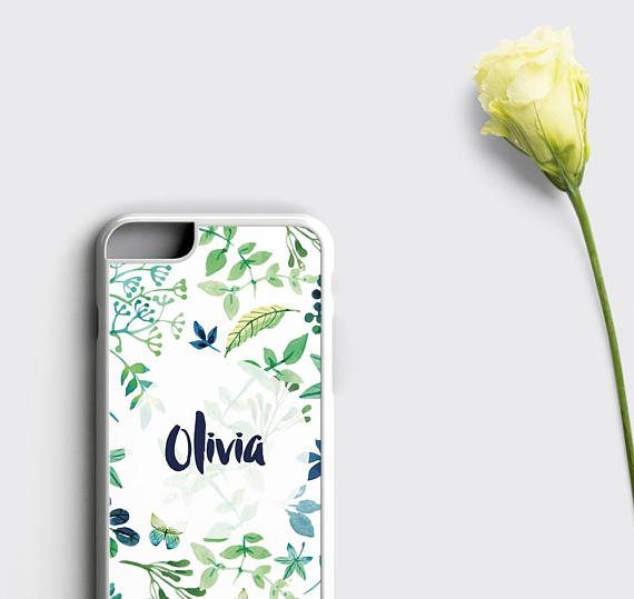 Personalized Phone Case iPhone 7 Case Floral iPhone 6S Case