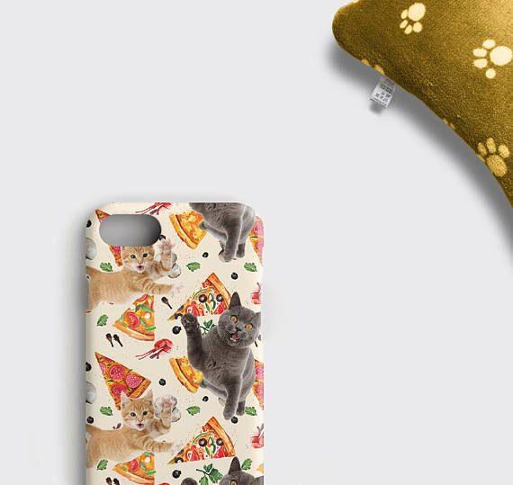 Pizza Cat Samsung Galaxy S8 Plus Case, Pizza iPhone 6S Case