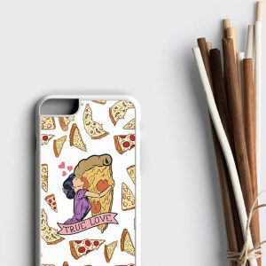 Pizza iPhone 8 Case, True Love Pizza Rubber iPhone Case