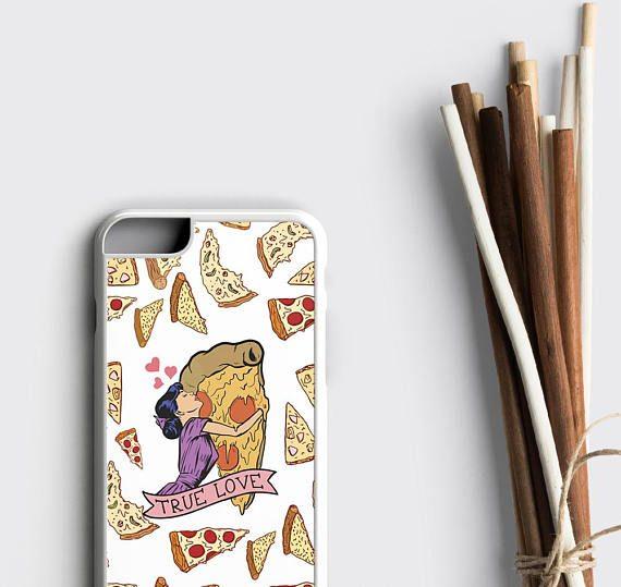 Pizza iPhone 8 Case, True Love Pizza Rubber iPhone Case