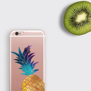 Samsung Galaxy S7 Edge Clear Case Pineapple iPhone 7 Plus Case