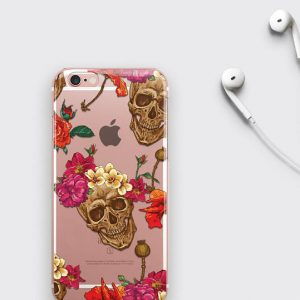 Skull iPhone 7 Plus Case Flower iPhone 6S Case Sugar Skull iPhone 8 Case
