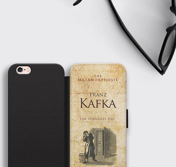 The Metamorphosis Book Cover iPhone 8 Plus Case Franz Kafka Samsung S8 Leather Wallet Case