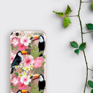 Tropical Samsung Galaxy S8 Plus Case Floral iPhone 7 Case Clear iPhone Case