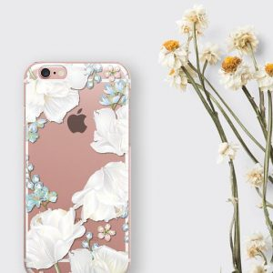 White Orchid Clear Phone Case Flower Lover Gift iPhone 8 Case