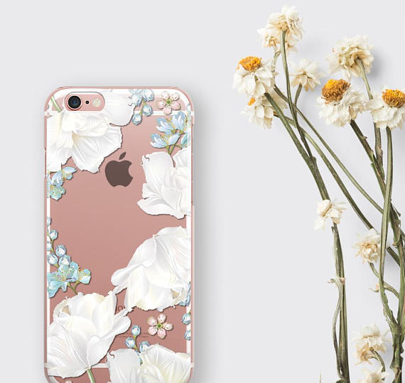 sneakers for cheap 638d0 fd0da White Orchid Clear Phone Case Flower Lover Gift iPhone 8 Case - zoobizu.com