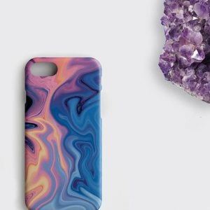 Amethyst Marble iPhone X Case February Birthstone Phone Case