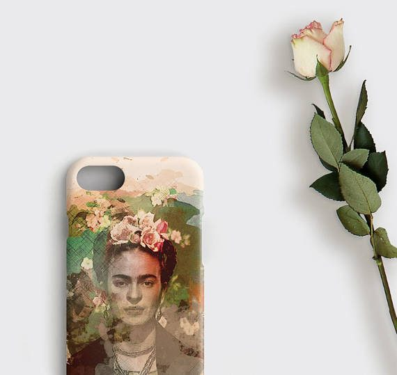 Frida Kahlo iPhone 7 Plus Case Vintage Watercolor Frida Samsung Galaxy S8 Case