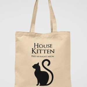 Cat Lover Gift Tote Bag Funny Kitten School Bag