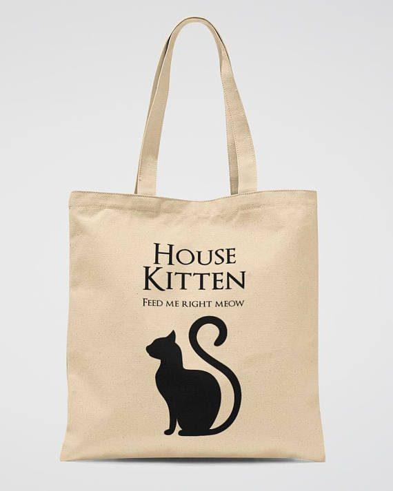 Cat Lover Gift Tote Bag Funny Kitten School Bag