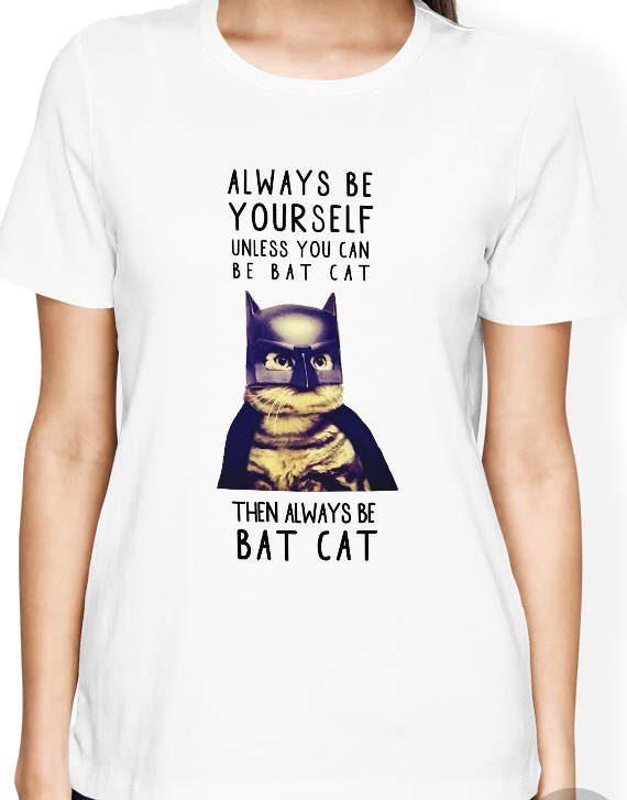 Cat Shirt, Batman batcat quote shirt, Batman shirt, Kitten shirt
