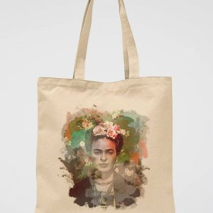 Frida Kahlo Canvas Tote Bag Vintage Style Cotton Bag