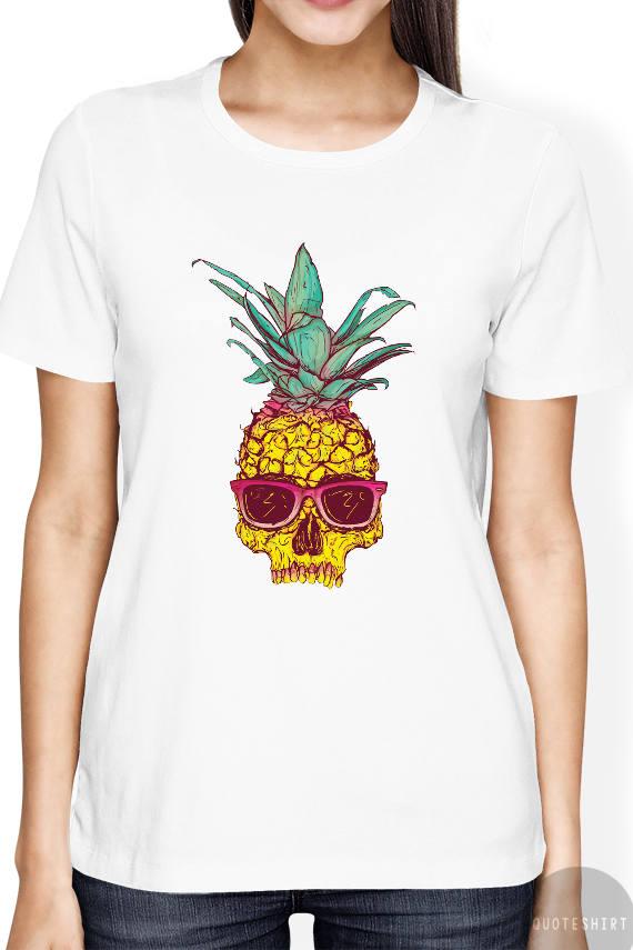 Pineapple Shirt Pineapple Shirt With Skull Design