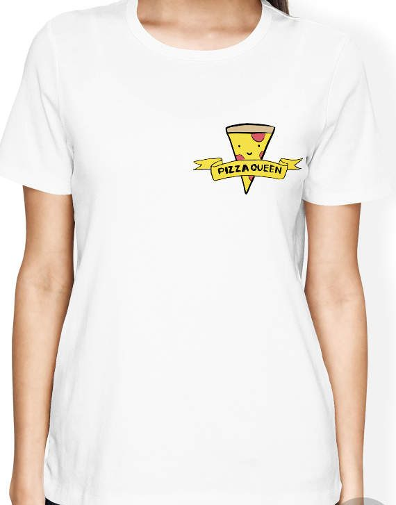 Pizza Shirt, Pizza Queen Women T Shirt with funny pizza slice