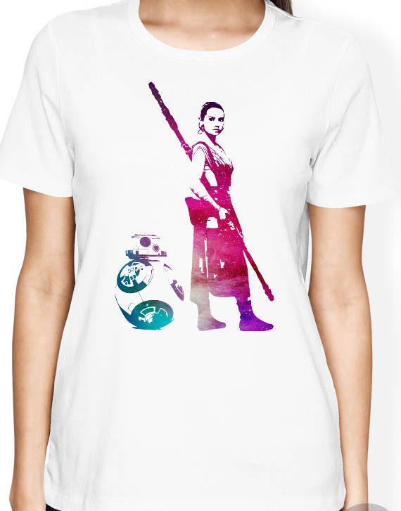 Star Wars Rey Shirt, BB8 Shirt, Star Wars Women Shirt