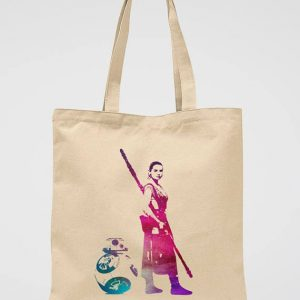 Star Wars Rey Tote Bag BB 8 Canvas Bag