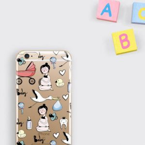 Cute Pregnant Mom Gift iPhone 8 Case